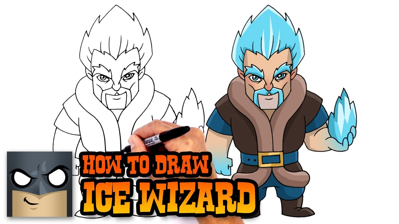 how to draw wizard clash royale