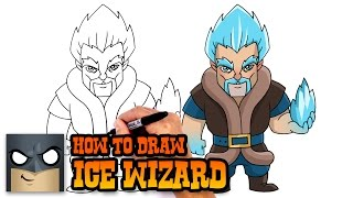 How to Draw Ice Wizard | Clash Royale