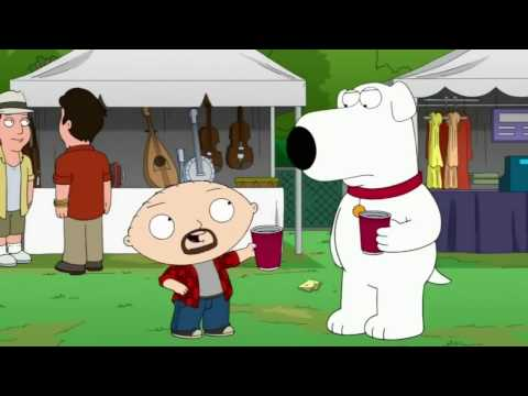 Stewie and Brian at the Rhode Island Folk Music Festival - Family Guy