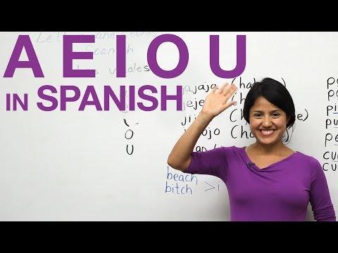 Phát âm nguyên âm tiếng Tây Ban Nha