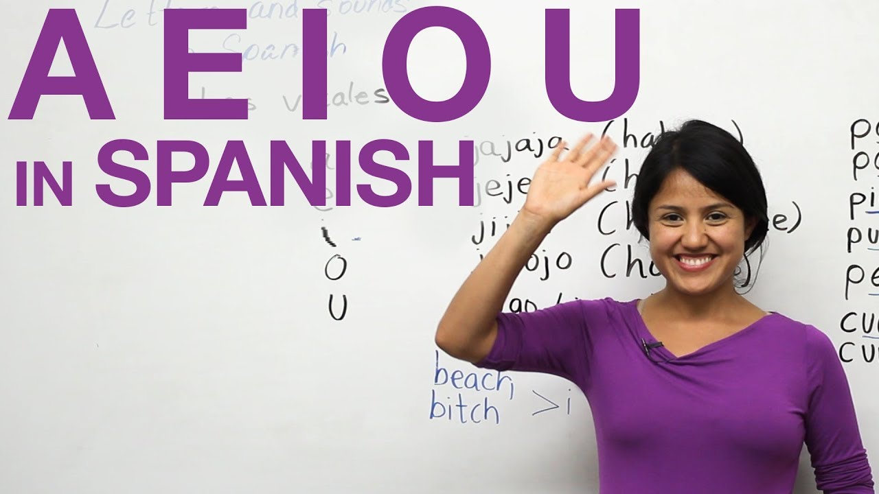 Learn how to say the vowels in Spanish A E I O U