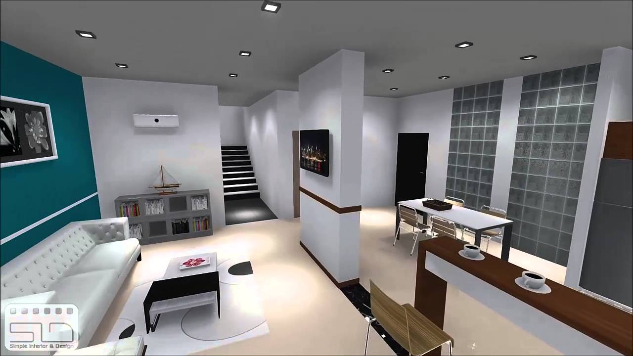Tude design et am nagement d 39 un appartement 02 par for Appartement 45m2 design