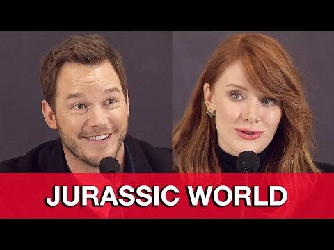 Jurassic World Cast Interviews - Chris Pratt, Bryce Dallas Howard, Omar Sy, Colin Trevorrow