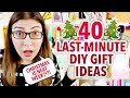 40 LAST-MINUTE DIY CHRISTMAS GIFT IDEAS | @karenkavett