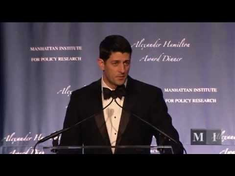 2014 Manhattan Institute Alexander Hamilton Award Dinner - PAUL RYAN