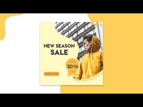 Modern Sale Banner Web Social Media Post Design in | Photoshop | Designhob