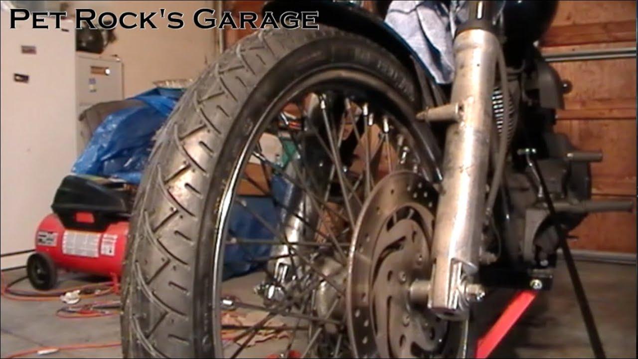 Harley Davidson Sportster Front Wheel Removal