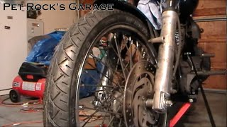 How To Remove & Install Front Wheel - Harley Davidson Softail