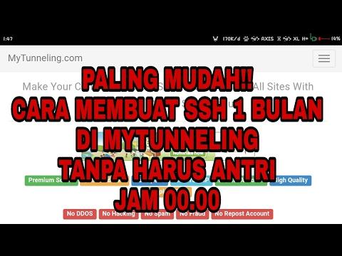 TUTORIAL MEMBUAT SSH SGDO 1 BULAN DI MYTUNNELING TANPA HARUS ANTRI JAM  00 000