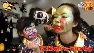 할로윈메이크업~ 마녀분장~ 마녀의 파티에 초대를 받았어요! 할로윈코스튬 페이스페인팅 마녀의파티 witch costume face paint for kids