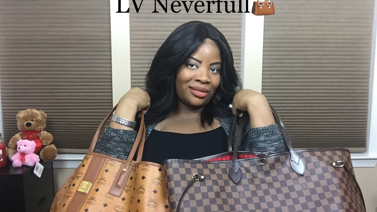5a042812a5a9 MCM LIZ SHOPPER TOTE COMPARED TO LV NEVERFULL - YouTube