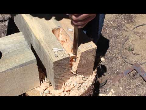 Timber Framing an Outside Kitchen  pt 1   Country Living