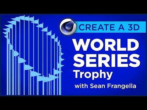 Cinema 4D Tutorial - Model a 3D World Series Trophy with MoGraph - Sean Frangella