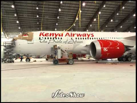 Painting the 787-8 leading edge aviation