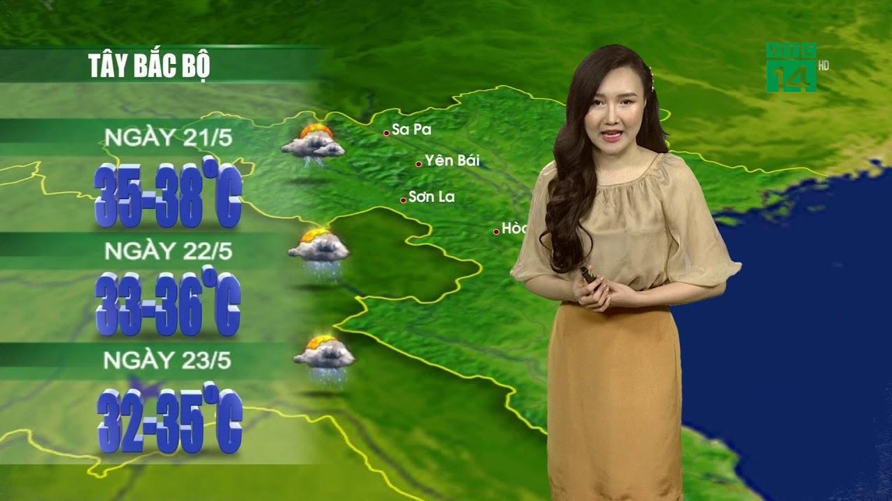 Thời tiết 12h 20/05/2020: Toàn miền Bắc tăng nhiệt trước khi đón mưa dông từ đêm 21| VTC14