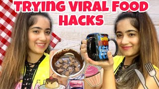Testing viral food hacks | *Mom's Honest Reviews*😌| CHINKI MINKI