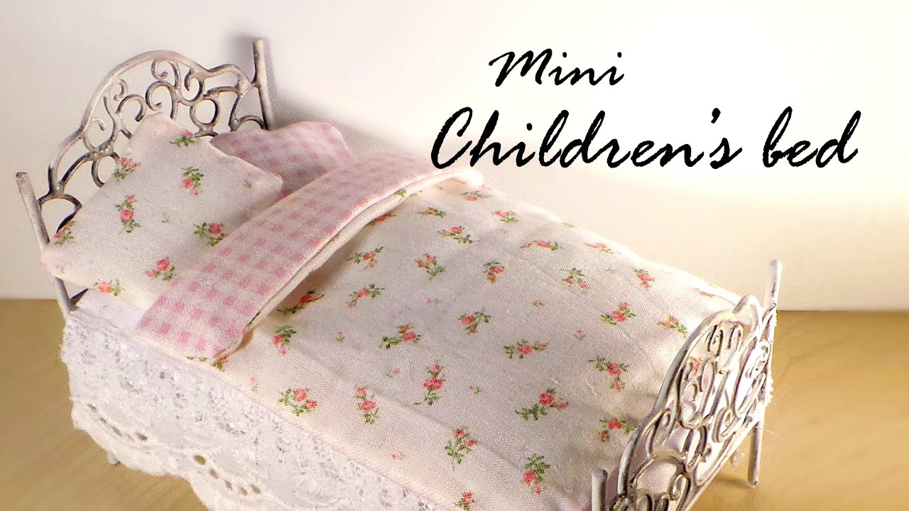 Miniature Furniture Cute Bed Tutorial