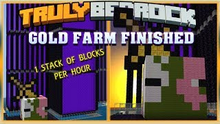 Truly Bedrock S0 EP26 : Gold Farm Finished [ Minecraft, MCPE, Bedrock Edition,Windows 10 ]