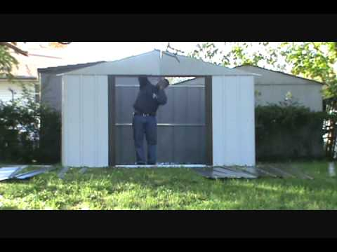 Assembly of a lowes Shed By Hands For You Assembly YouTube