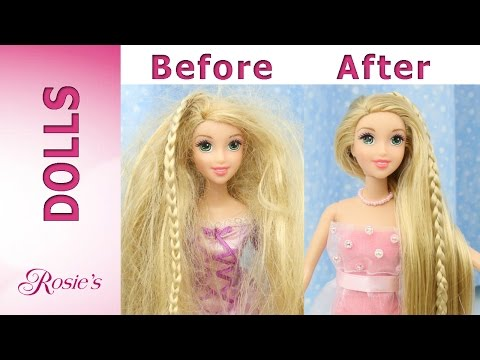 Rapunzel Grow and Style Makeover -  Hair Repair and New Dress