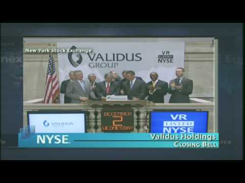 2 December 2009 Validus Holdings NYSE Euronext Closing Bell