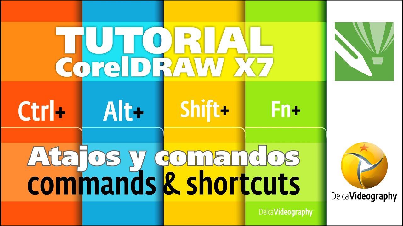 (BÁSICO) TUTORIAl 2 Corel DRAW X6, X7: Comandos y atajos