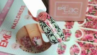 ОЧЕНЬ красивый дизайн ногтей в стиле E.Mi NAILDRESS | слайдеры, гель лак, литье, розы, вензеля!