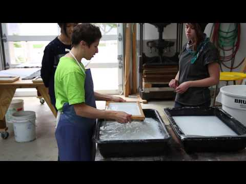 Making watermarks in hand papermaking