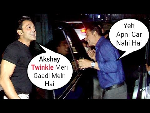 DRUNK Twinkle Khanna Sits In Bobby Deol's Car After Celebrating Akshay Kumar Birthday Mp3