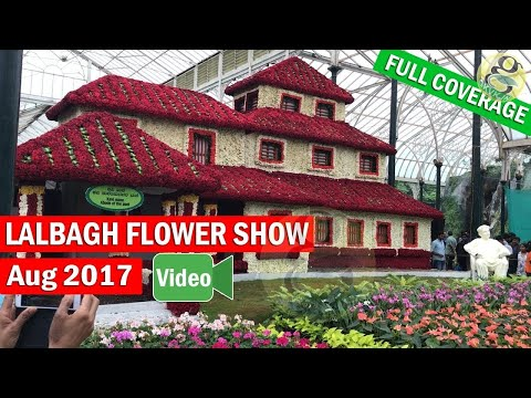 Lalbagh Flower Show August 2017 Independance day - FULL coverage - Plant and Flower Labels