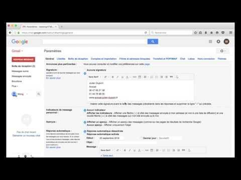 Comment changer la signature email de ma messagerie Gmail