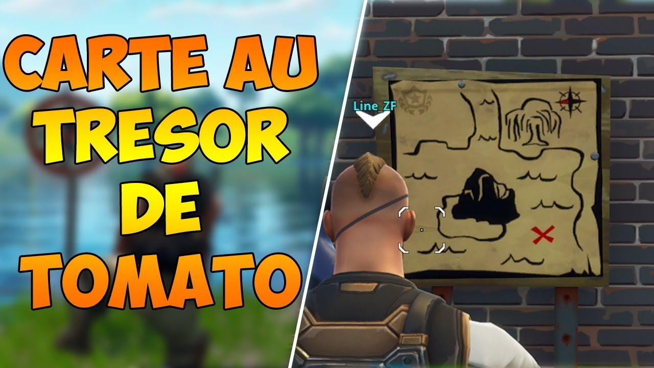 fortnite carte au tresor tomato FORTNITE] SUIVRE LA CARTE AU TRESOR DE TOMATO TOWN   YouTube