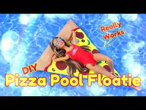 DIY - How To Make: Pizza Pool Floaties | Miniature | Really Floats