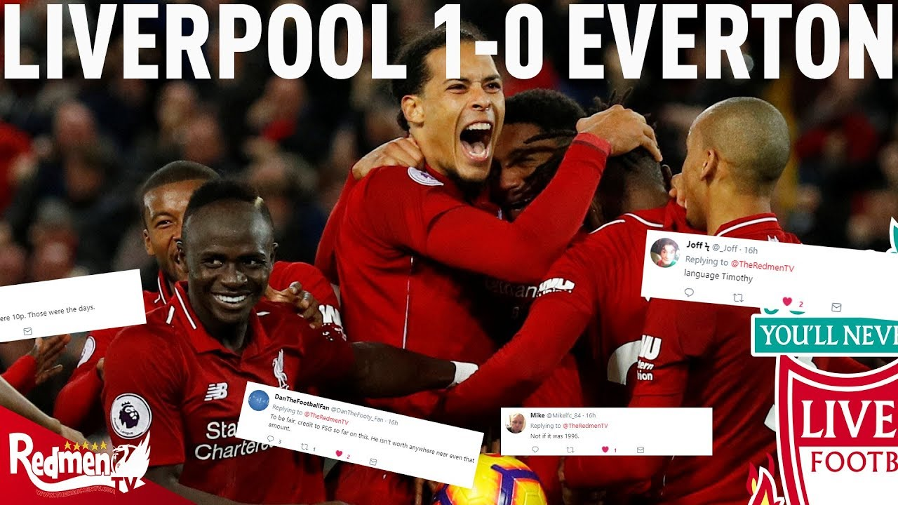 Liverpool v everton 1 0 lfc twitter reactions