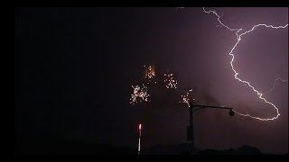 #Fireworks & #Lightning at 28+seconds...