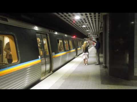 MARTA: Doraville and Atlanta Airport-bound Gold Line trains at Peachtree Center