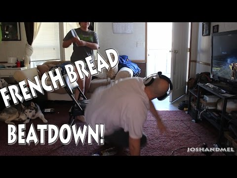 ANGRY WOMAN BEATS HUSBAND WITH BREAD FOR PLAYING PS4 TOO MUCH!