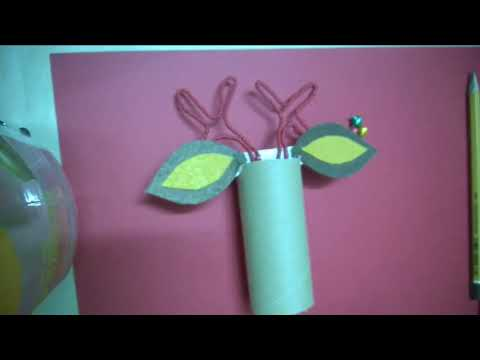 DIY   Reindeer Cork Christmas Crafts For Kids Using Recycled Toilet Paper Rolls
