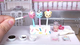 Miniature Num Noms cake pops! 🍰 Mini food ASMR