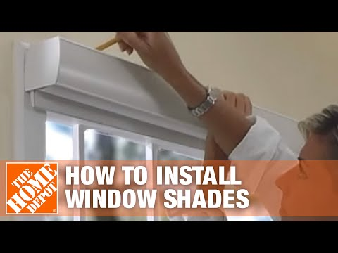 How To Install Outside-Mount Sheer Horizontal Window Shades   The Home Depot