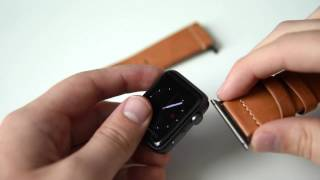 Brown Leather third party Apple Watch band   Clockwork Synergy