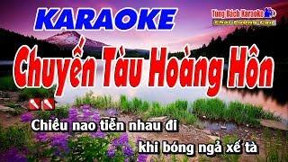 Chuyến Tàu Hoàng Hôn - Karaoke Nhạc Sống Tùng Bách