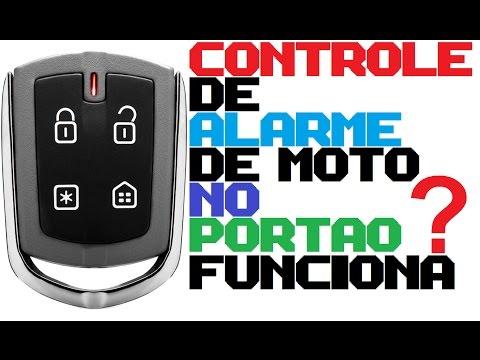 CONTROLE DE ALARME DE MOTO NO PORTÃO ELETRÔNICO FUNCIONA ? (CAR ALARM CONTROL ) Passo a passo