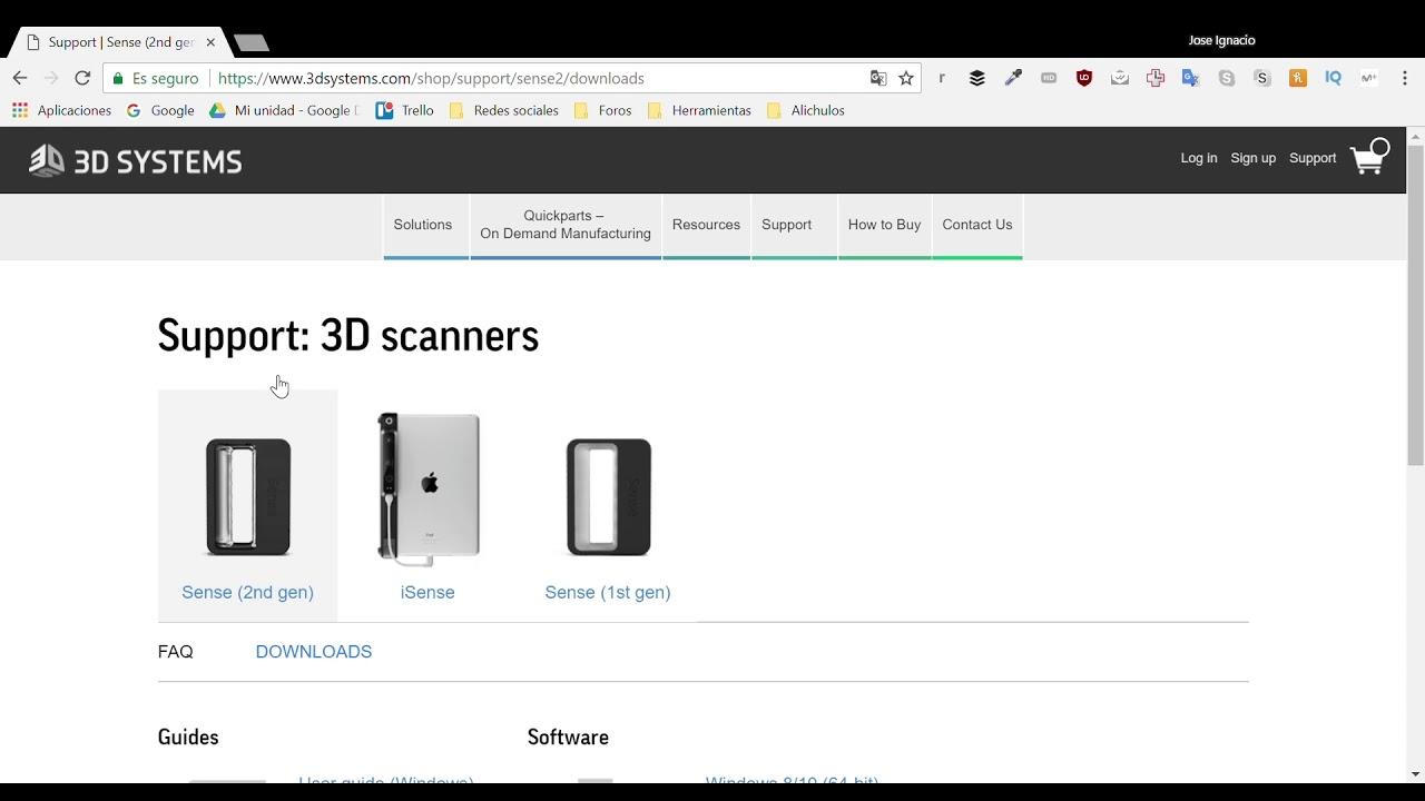 Instalación y configuración escáner Sense 3D 2ª Generación | Videotutorial