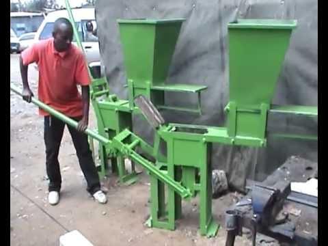 Interlocking Bricks Making Machine Mpg Youtube