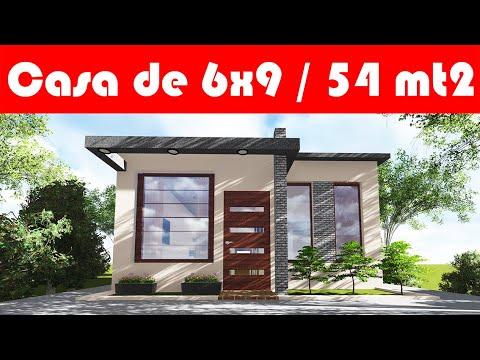 Casa De 6x9 Metros 54 M2 Economica Super Pequeña Youtube