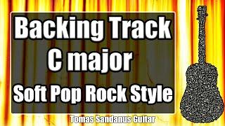 C major Backing Track - Electronic Soft Pop Rock Guitar Backtrack - Chords - Scale - BPM