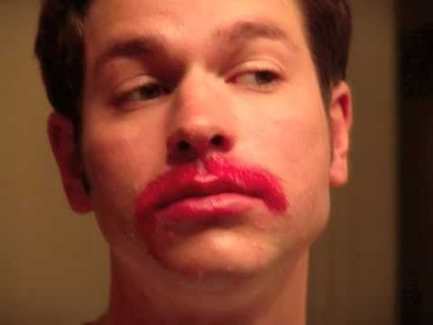 My Movember 2010 - How to Dye Your Mustache Pink - YouTube