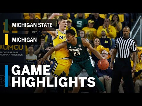 Highlights: Winston's 27 Leads Michigan State Over Michigan | Big Ten Basketball