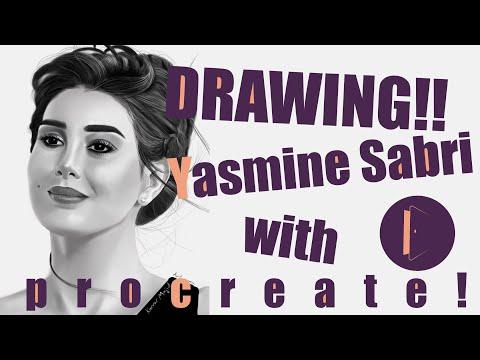 Digital portrait for the Egyptian actress Yasmine Sabri رسم رقمي للممثله المصريه ياسمين صبري